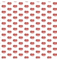 Seamless heart pattern background vector image