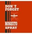 anti-mosquito spray label vector image