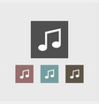 music note icon simple vector image