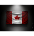 waving flag canada on a dark wall vector image