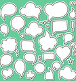 Set of isolated sticker bubbles dialogues Thought vector image