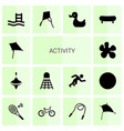 activity icons vector image vector image