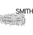 alex smith draft day picks text word cloud concept vector image vector image