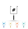american football with goal post icon isolated vector image vector image