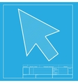 Arrow sign White section of icon on vector image vector image
