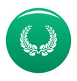 award wreath icon green vector image vector image