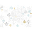 background with colorful pastel snowflakes vector image vector image