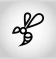 bee logo icon vector image vector image