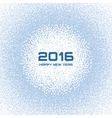 Blue - White Light New Year 2016 Snow Flake vector image vector image