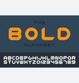 Bold modern font trendy english creative