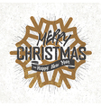 christmas card with snowflake v7 silhouette vector image vector image