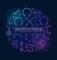 colored piercing circular in vector image vector image