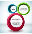 Colorful 3d circle background vector | Price: 1 Credit (USD $1)
