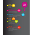 Colorful Infographic timeline report template with vector image vector image