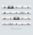 communications - toolbars vector image