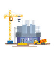 construction cinema with of crane mixer vector image vector image
