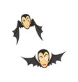 count dracula flying as a bat vector image vector image
