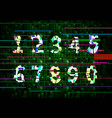 critical error glitch numbers on green matrix vector image vector image