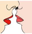 Desire between two women vector image vector image