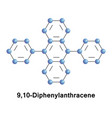 diphenylanthracene polycyclic aromatic hydrocarbon vector image vector image