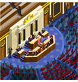 Election Infographic Congress Hall Isometric vector image vector image