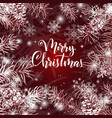 elegant christmas red background vector image vector image