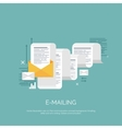 Flat emailing background vector image vector image