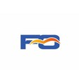 FQ initial company logo vector image vector image