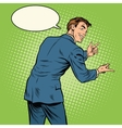 Gesticulating man back vector image vector image