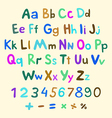 Hand-drawn alphabet art children vintage vector image vector image