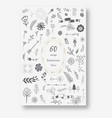 hand drawn doodle sketch ecology organic icons vector image vector image