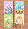 happy easter card collection vector image vector image