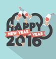 Happy New Year 2016 Typography Design Illus vector image vector image