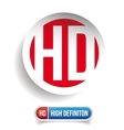 HD button - High Definition set vector image vector image