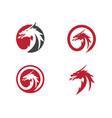head dragon logo template vector image vector image