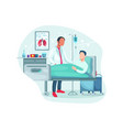 hospitalization patient vector image