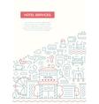 Hotel Services - line design brochure poster vector image vector image