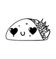 isolated burrito design vector image vector image