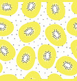 kiwi fruit seamless pattern hand drawn vector image