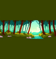 landscape with forest and river vector image vector image