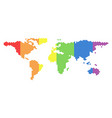lgbt spectrum dotted world map vector image