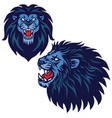 lion head logo set collection design vector image vector image
