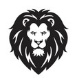 lion head logo sign black and white design vector image vector image