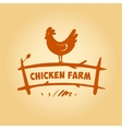 logo chicken on the fence Products from vector image vector image
