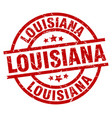 louisiana red round grunge stamp vector image vector image