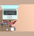 makeup and beauty and laptop computer vector image