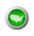 map of usa button vector image vector image
