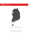 map south korea isolated vector image