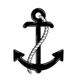 nautical anchor logo icon maritime sea ocean boat vector image vector image