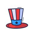 patriotic american top hat icon drawn hand in vector image vector image